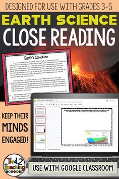 This science reading passage pack includes 11 DIGITAL earth science close reading informational passages on a variety highly tested earth science topics. Each passage also has 4 text dependent questions that drive students back to the text to extrapolate the needed information. In addition, for every passage you will receive both an informational and a opinion / argument prompt the students can write to.