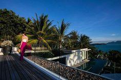 Set within a tropical garden, this villa is a luxuriously designed four-bedroom villa with panoramic sea views. Koh Samui, Tropical Garden, Luxury Villa, Great Photos, Paradise, Design, Tropical Backyard, Tropical Gardens