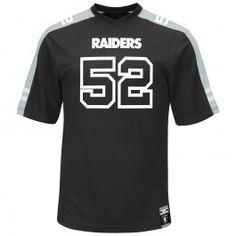 Khalil Mack Oakland Raiders Majestic Hashmark Apparel Name And Number  T-Shirt (Black) de27af72f
