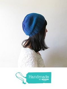 Ombre Slouchy Hat, Teal Blue Slouchy Beanie, Women Hand Knit Hat, Wool Blend, Seamless Winter Beanie, Gift for Her, Made to Order from NaryaBoutique https://www.amazon.com/dp/B01LZLCLGO/ref=hnd_sw_r_pi_dp_XBe7xb3K5D13F #handmadeatamazon