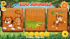 Puzzles for kids Zoo Animals