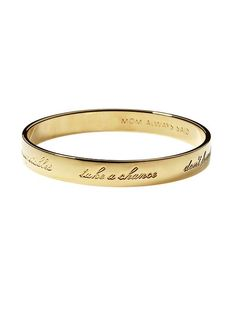 "love this ""Mom always said"" bangle for a Mother's Day gift"