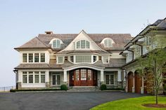 Cardello Architects provides architectural house plans to create custom home designs like this waterfront property located in Darien, CT. Coastal Cottage, Coastal Homes, Coastal Rugs, Coastal Bedding, Coastal Decor, Custom Home Designs, Custom Homes, Pottery Barn, Shingle Style Homes