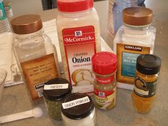 Self-Reliance by Jamie: Tis the Seasonings. . . How to make taco seasoning, onion soup mix, ranch.
