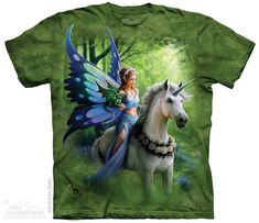 Realm of Enchantment Childrens Fairy T-Shirt by Anne Stokes : Fantasy Collections : Light Fantasy T-Shirts : T-Shirtsauce Australia Shop The Mountain T-Shirts Anne Stokes, Enchanted Fairies, Fairy Gifts, Baby Dragon, Forest Fairy, Mountain Man, Trends, Tee Shirts, Darkness