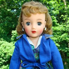 1950s Ideal Miss Revlon Doll Kissing Pink Blue Paisley Print and Jacket VT-18 by AmericanBeautyDolls on Etsy