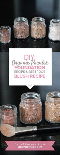 An easy, homemade recipe for mineral powder foundation and blush with zero toxins and natural ingredients. The best part? We show you how to adjust the shades to fit your preferences, too! Get the recipe here: http://paleo.co/foundationrcp