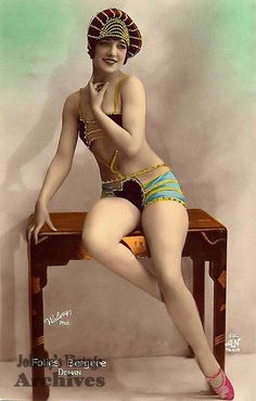 20'sVintage postcard. http://www.thepinuppodcast.com shares this pinup pin because it is worthy!!