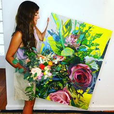 Floral painting by Kate Mullin. www.katemullinart.com