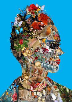 #DessinAnalytique - #Infographie - #Montagephoto - #Photoshop - #Archimboldo - #FridaKhalo - #Penninghen - Audrey DEBARGUE https://fr.pinterest.com/audreydebargue/
