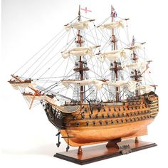 Old Modern Handicrafts HMS Victory Copper Bottom Model (OMH HMS Victory Copper Bottom Model), Brown (Wood)