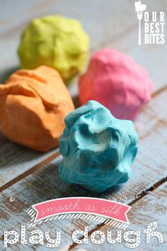 silky play dough from Our Best Bites