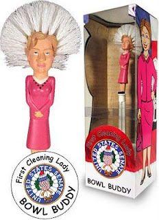 Hillary Clinton Toilet Bowl Brush