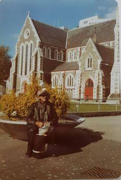 Jock Orr aka The Bird Man in the Square, Photo credit. Michael P. Bird Man, Christchurch New Zealand, Old Skool, Homeland, Old And New, Photo Credit, Photographs, Memories, Retro