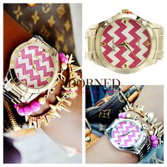 Adorned Boutique - Oh Baby Chevron Watch Stack, $64.99 (http://www.shopadornedonline.com/oh-baby-chevron-watch-stack/)