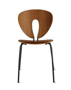 I saw these chairs at the store today and liked them a lot, better than the eames i think. Globus Chair in Wood, Powder-Coated Frame