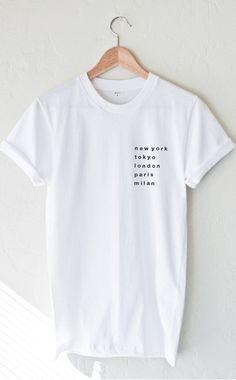 Cities T-shirt - White