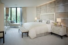 Great Glamorous Padded Wall Panels To Garnish The Bedroom : Padded Wall Panels  Equipped By Bedroom Wall
