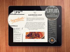 Passion for food and music by Mikael Westman, via Behance