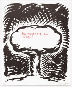 Untitled (How Comes it so Great...) - Raymond Pettibon - Leslie Sacks Gallery, you can see more at: http://archesart.co.uk/Works/viewPrint/MTE3NDg=