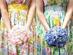 hydrangea bridesmaid bouquet | VIA #WEDDINGPINS.NET