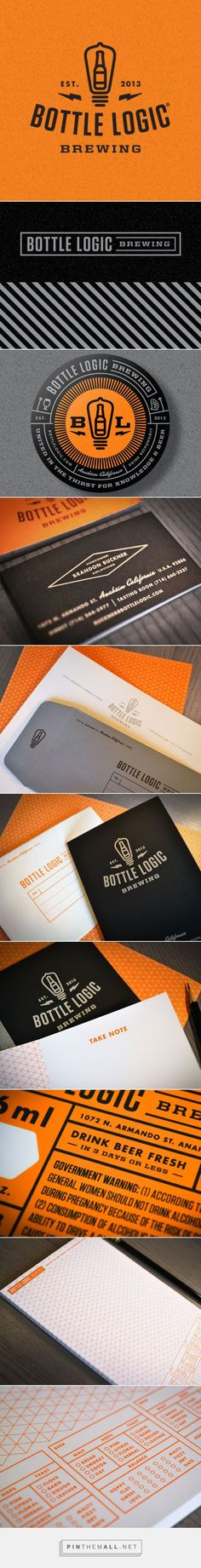 Bottle Logic Brewing Logo and Branding System