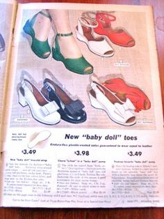For all my 1940s loving friends…I have been scanning some of the great ads in vintage magazines that I own and thought I would share them as some of the shoes are simply stunning. Most of the pics are featured in a mid 40s Sears and Roebuck catalogue and the other is from the 1943 British magazine – Britannia.