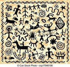Petroglyphs Illustrations and Clip Art. 94 Petroglyphs royalty ...