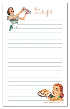 Housewife stationery! Stationery of the Week (SOTW) #21