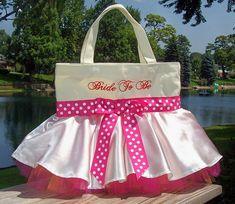 Wedding tote bag, Embroidered Bridal Tote Bag, personalized tote bag, dance bag, tutu ballet bag, ballet bag Tutu Tote Bag - STB53 - EST