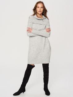 Długi sweter z golfem, RESERVED, RG614-09M