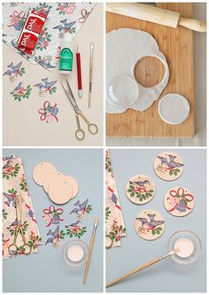 air dry clay tags via Merry Makings Magazine Trending Craft Ideas Using Paper Mache, Air Dry Clay, C Fimo Clay, Polymer Clay Crafts, Diy And Crafts, Paper Crafts, Napkin Decoupage, Clay Ornaments, Fabric Ornaments, Air Dry Clay, Clay Projects