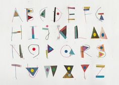 I have a thing for alphabets these days...  Agata Krolak via Kickcan & Conkers