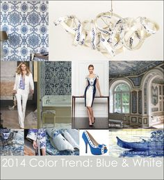 2014 Color Trend: Blue & White for the Home
