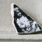 photo transfer pottery shard