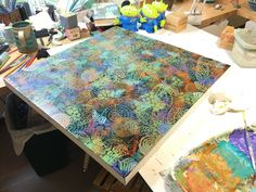 Working on under paintings. Just put on a coat of gloss varnish to add depth and isolate this layer. Painting Collage, Collage Art, Paintings, Collage Techniques, Painting Techniques, Adult Art Classes, Hope Art, Gelli Arts, Watercolor Journal