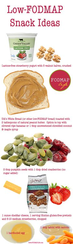 45 Low-FODMAP Snack Ideas from FODMAPLife - enjoy!