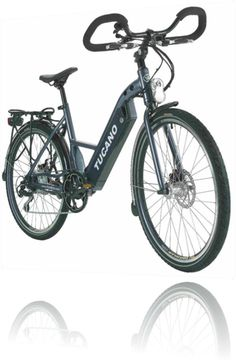 Hide Bike Linux ~ A very light electric bike with integrated battery in the box.  Tektro disc brakes