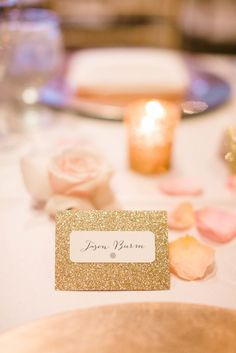 Gold Hand Calligraphed Place Cards   Scheme Events https://www.theknot.com/marketplace/scheme-events-henderson-nv-354269   J. Anne Photography https://www.theknot.com/marketplace/j-anne-photography-las-vegas-nv-483554