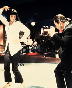 """Uma Thurman and John Travolta in """"Pulp Fiction"""", 1994 Pulp Fiction, Mia Wallace, Iconic Movies, Old Movies, Classic Movies, Quentin Tarantino, Movies Showing, Movies And Tv Shows, Dance Movies"""