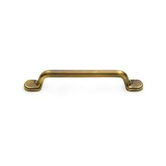 This Antique Brass Finish Oversized Cabinet Pull With Round Over Handle And  Step Up Base