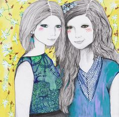 'The Mirror and The Mask' by Alicia Rogerson Illustration Art, Illustrations, New Work, Modern Art, Princess Zelda, Ali, Artist, Artwork, Mirror