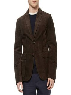 Men Suede Leather Blazer made with Suede leather.  It has features like Complete Vintage appearance, Two interior pockets, Long sleeves and Satin Lining.  Get this leather Blazer now for your stylish personality.