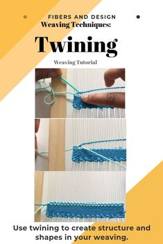 Learn the twining weaving technique to create weft structure on the warp. Weaving Loom Diy, Weaving Art, Tapestry Weaving, Braid Patterns, Weaving Patterns, Stitch Patterns, Knitting Patterns, Weaving Projects, Art Projects