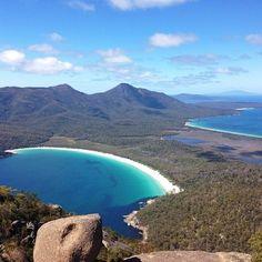 Wineglass Bay, Freycinet National Park. #wineglassbay #beaches #tasmania #discovertasmania Image Credit: Ben Ashmole