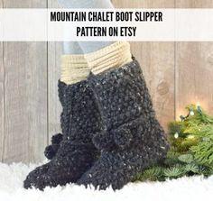 knit-1-flat-easy-boot-slipper-pattern