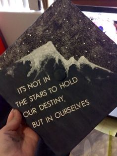 "Graduation Cap!! Nau 2015! ""It's not in the stars to hold our destiny, but in ourselves"" William Shakespeare #graduation #graduationcap #nau"