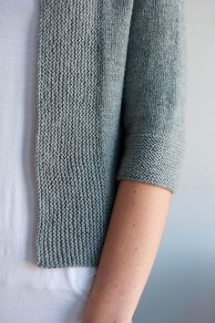 (detail view of Ravelry: Miriam Cardi pattern by Carrie Bostick Hoge)---love the garter edges