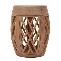 Barrel Fretwork Side Table