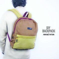 Fantastic 10 sewing projects projects are offered on our site. Read more and you wont be sorry you did. Backpack Tutorial, Diy Backpack, Backpack Pattern, Diy Fashion Videos, Diy Videos, Fashion Ideas, Mochila Jeans, Sewing Tutorials, Tutorial Sewing